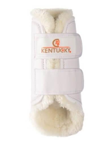 Kentucky - guêtres turnout cuir blanc