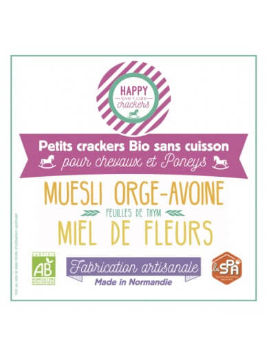 Happy crackers -Biscuit Miel et Thym