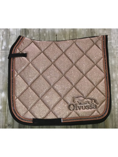 Olvossa - tapis dressage crystal rose gold