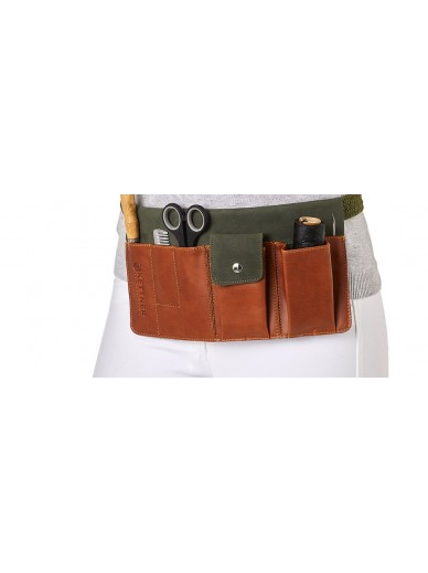 Kettner - plaiting kit cognac/green
