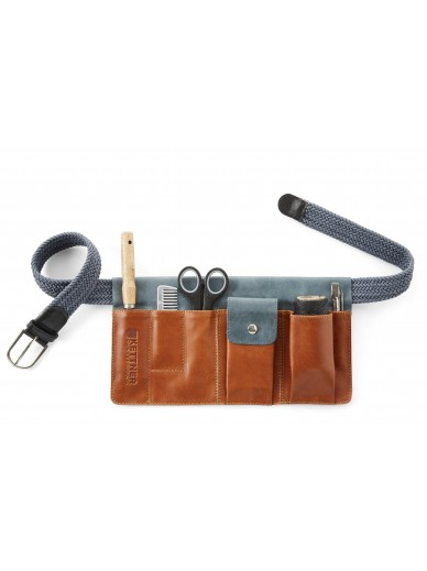 Kettner - plaiting kit cognac/blue