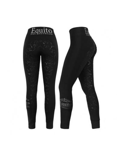 equito - legging black silver