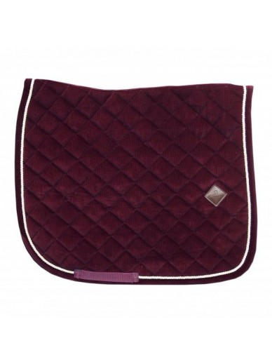 Kentucky - Tapis corduroy dressage bordeaux