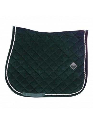 Kentucky - Tapis corduroy dressage vert pin