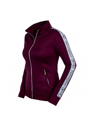 Horsegloss - Veste zippée tracking burgundy
