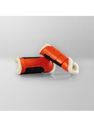 Ave equestrian - guetres doublées orange