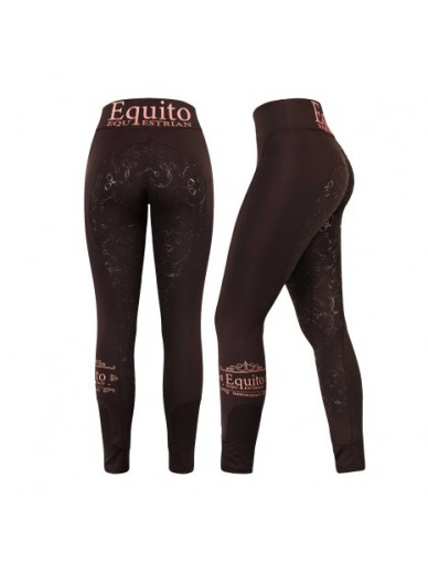 equito - legging brown gold
