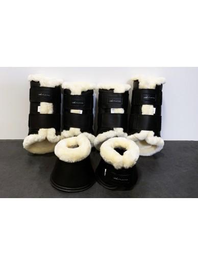 Amare - set boots matte creme black