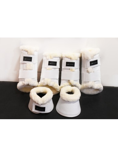 Amare - set boots matte creme white