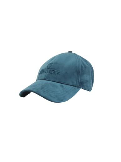Kentucky - casquette velvet turquoise