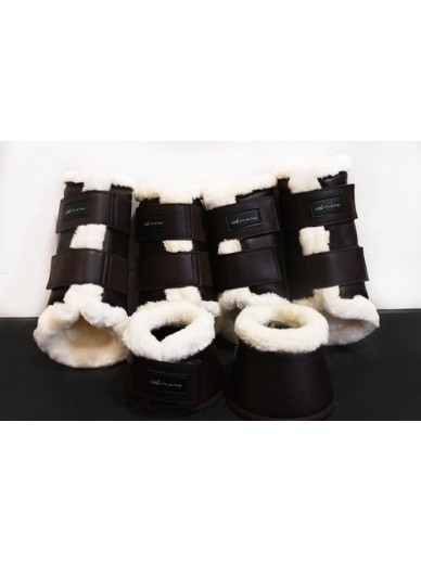 Amare - set boots matte creme brown