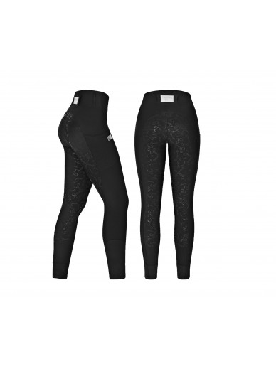 equito - leggings black silver