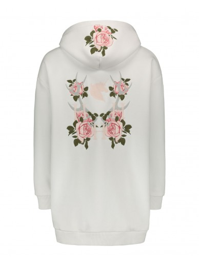 House of Horses - La vie en rose Hoodie - blanc/edition limited