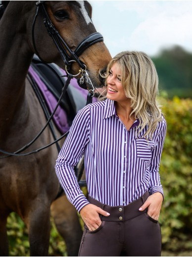 Ps of Sweden - polo shirt Cassidy - plum
