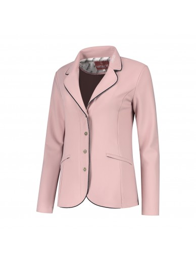 Mrs Ros - Veste concours strass rose pale